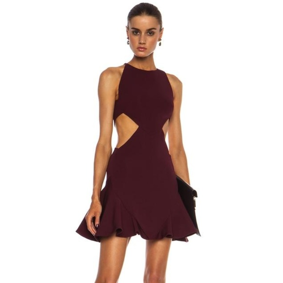 09b6fb6466fa Cushnie et Ochs Dresses | Cut Out Ruffle Cocktail Dress | Poshmark